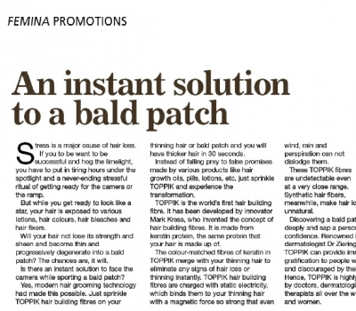 An Instant Solution To A Bald Patch